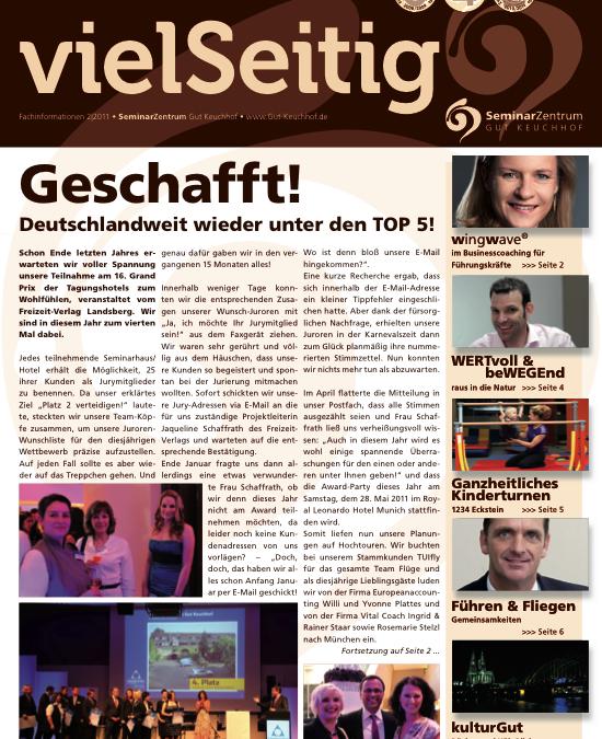 Gudrun Happich im Kundenmagazin von Gut Keuchhof