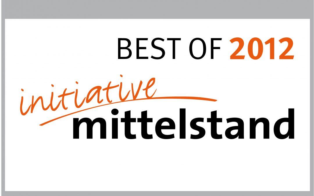 Auszeichnung: Best of 2012 für den Mittelstand