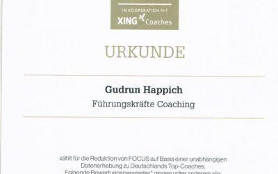 """Auszeichnung zum """"Top-Coach 2016"""""""